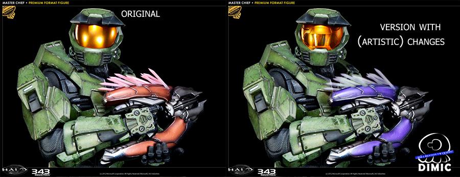 Halo Master Chief Premium Format Figure Archive Sideshow